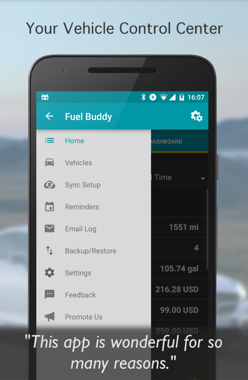 Fuel Buddy - Car Mileage Log Screenshot 2