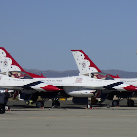 USAF Thunderbirds by Mike Martinez - Artistic Objects Technology Objects