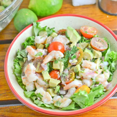 Garlic-Black Pepper Shrimp & Avocado Salad Recipes — Dishmaps