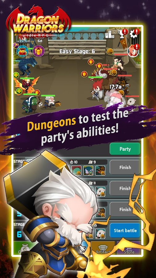 Dragon Warriors : Idle RPG Screenshot 3