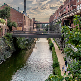 C & O Canal Georgetown by Dale Youngkin - City,  Street & Park  City Parks ( georgetown, park, c&o canal, city )