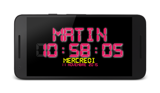 France Night LED Clock - screenshot