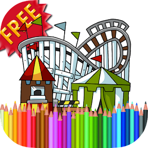 Coloring Book Amusement Park