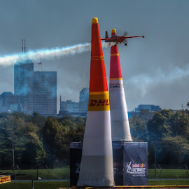 RedBull by Dennis McClintock - Transportation Airplanes ( indianapolis, airplane, air race, airshow )