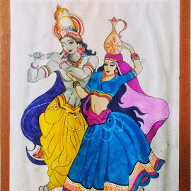 Radha Krishna by Samriddhi Dutta - Drawing All Drawing ( krishna, art, drawing )