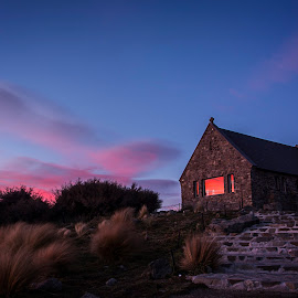 Church of the Good Shephard by Bren Dyer - Buildings & Architecture Places of Worship ( otago, dawn, church, church of the good shephard, sunrise )