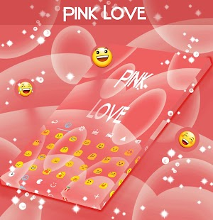 Pink Love Keyboard - screenshot