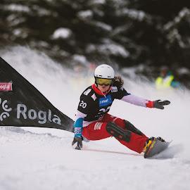 the turn by Urban Meglič - Sports & Fitness Snow Sports ( turn, giant slalom, sportida, world cup, white, pixoto, award, timetrial, race, ifeelslovenia, fis, challenge, snow, slovenia, gs, duel, snowboarding, rogla, top5, top )