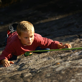 My son by Michel Burelle - Sports & Fitness Climbing