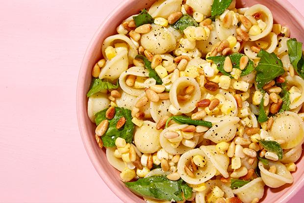 Orecchiette with Corn, Basil, and Pine Nuts Recipe | Yummly