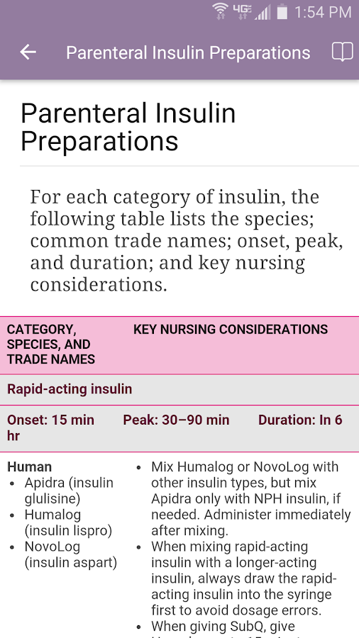 Nurse's Drug Handbook Screenshot 3