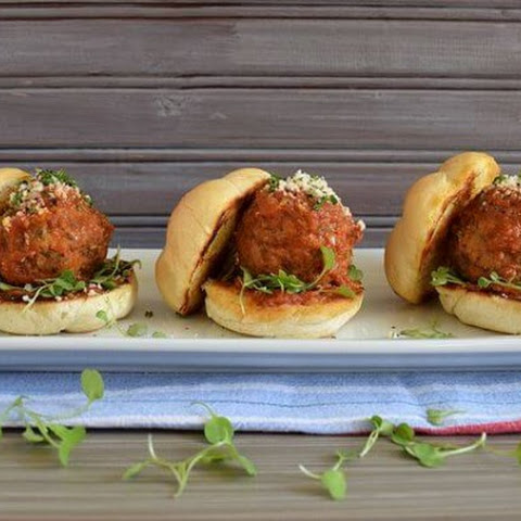 Tomato Gravy Meatball Sliders