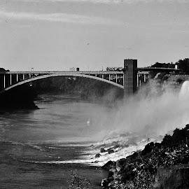 Niagara Falls by Sarah Harding - Novices Only Landscapes ( famous, iconic, novices only, bridge, architecture )