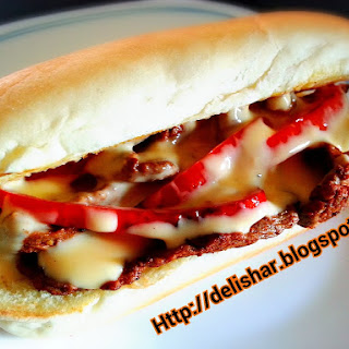 Philly Cheese Steak with Cheese Sauce