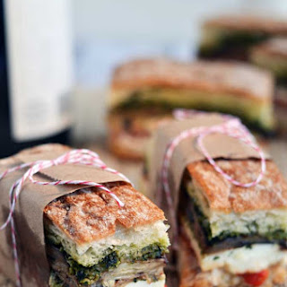 Eggplant Sandwich Pesto Recipes