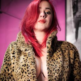 Diana by Gabriel Fox - Nudes & Boudoir Boudoir ( redhead, face, lips, sexy, stamp, intimate, portrait, look,  )