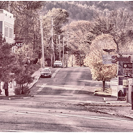 Downtown Bar Harbor  by Lorraine D.  Heaney - City,  Street & Park  Neighborhoods