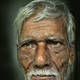 The Stubborn by Arnab Bhattacharyya - People Portraits of Men