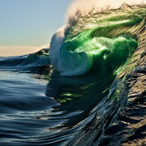 The Hulk by Burg Thurston - Nature Up Close Water ( thurston, monster, green, glass, wave, power, ocean, beauty, photo )