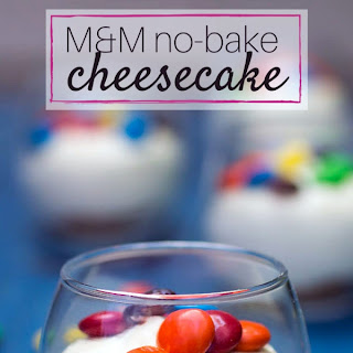 No-Bake M&M® Cheesecake