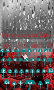 Rain Keyboard - screenshot