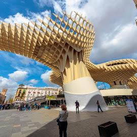 metropol, Sevilla by Roberto Gonzalo - City,  Street & Park  Vistas ( metropol, sevilla )
