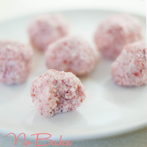 No Bake Strawberry Coconut Macaroon