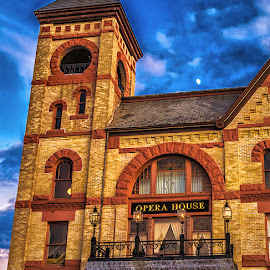 The Old Opera House by James Kirk - Buildings & Architecture Public & Historical ( red, woodstock, brick, brown, opera, house, historic )