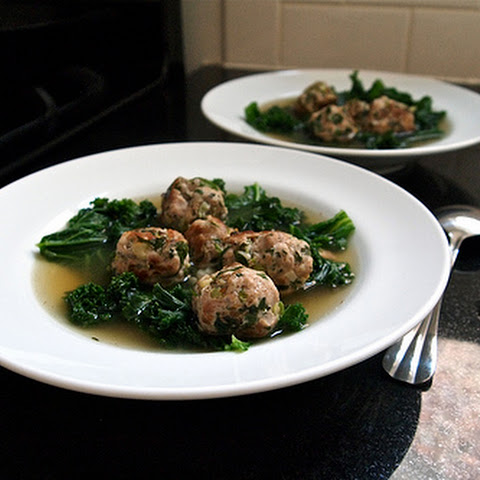 Chicken Broth with Pork and Kale