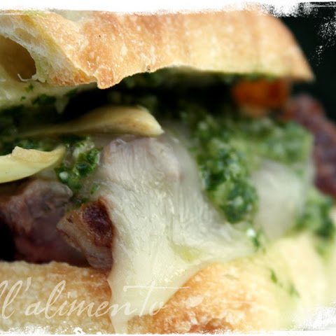 Gaucho Steak Sandwich with Chimichurri Sauce