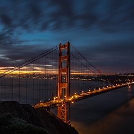 CLASSIC SHOT by Liam Vo - Buildings & Architecture Bridges & Suspended Structures ( golden gate bridge, sunset, california, sunrise, san francisco )