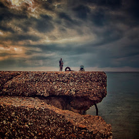 Lowcasting  by Gregory Dallis - Landscapes Waterscapes ( fishing dallis greece halkidiki sithonia nikiti man )