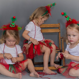 Triplets by Ansie Meintjes - Babies & Children Child Portraits ( girls, triplets, xmas )