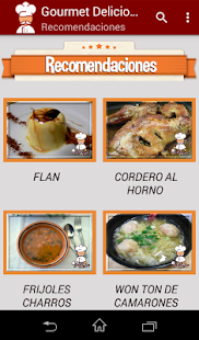 Recetario Gourmet Delicious - screenshot