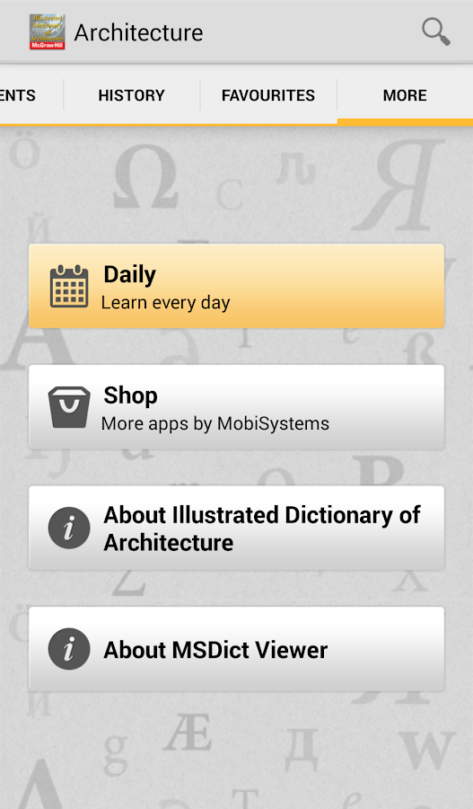 Dictionary of Architecture TR Screenshot 5