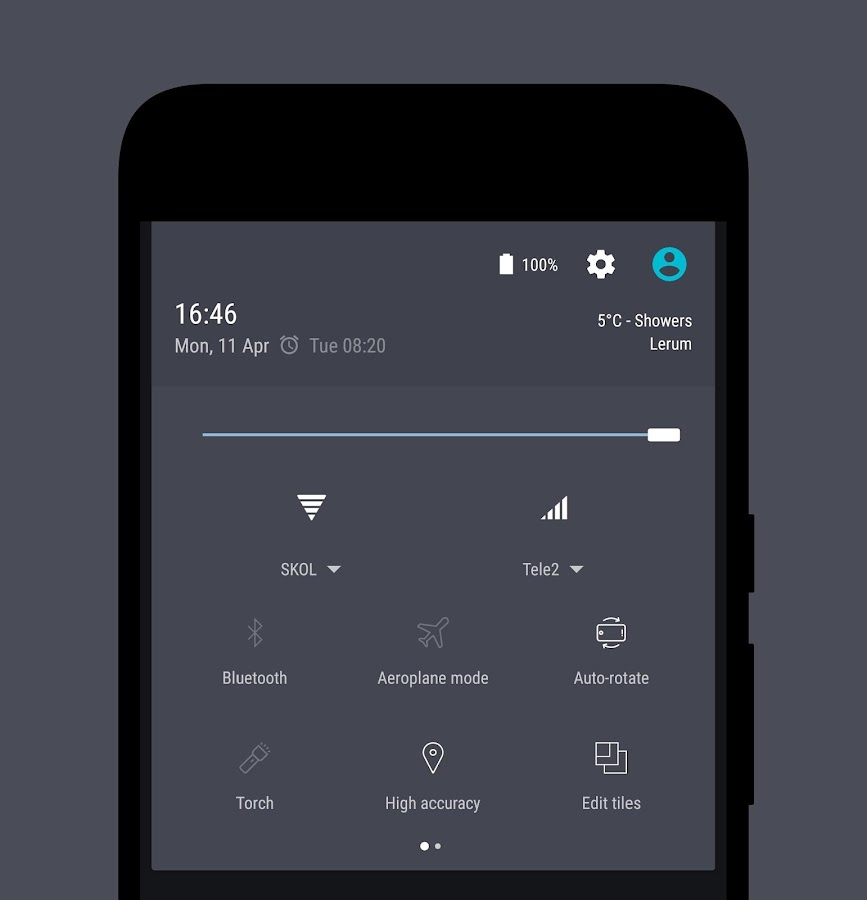 Swift Supreme CM12 CM13 Theme Screenshot 1