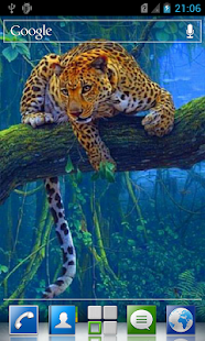 Leopard live wallpaper - screenshot