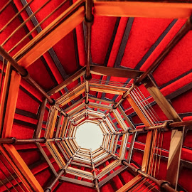 Golden Spiral by Agnirudra Sikdar - Buildings & Architecture Other Interior ( abstract, interior, staircase, genova, spiral )