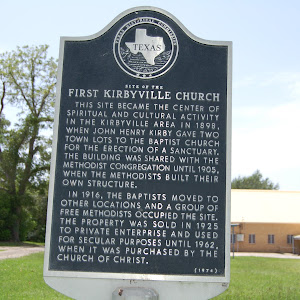This site became the center of spiritual and cultural activity in the Kirbyville area in 1898, when John Henry Kirby gave two town lots to the Baptist church for the erection of a sanctuary. the ...