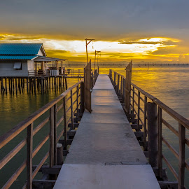 by Ryan Dominguez - Buildings & Architecture Homes ( vacation, sunset, thailand, travel, stilt house, songkhla )