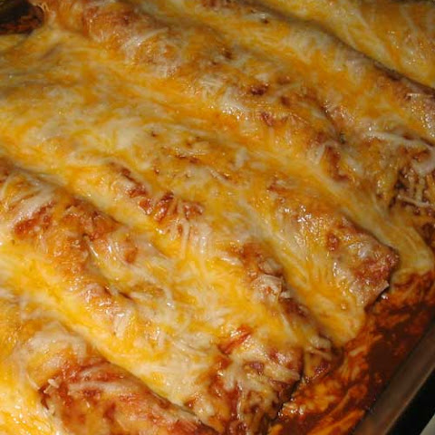 Beef and Bean Enchiladas