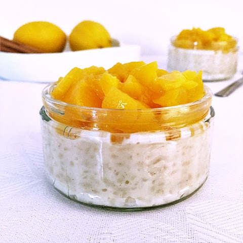 Peach Rice Pudding