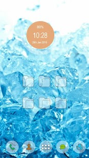 Simple ice blue - screenshot