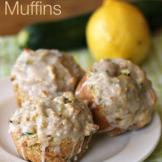 Lemon Zucchini Muffins with Easy Lemon Glaze
