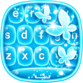 Free Neon Blue Keyboard Changer APK for Windows 8