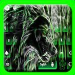 Glowing Wolf Keyboard Theme Icon