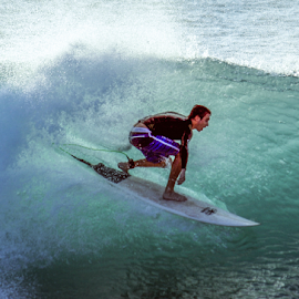 by Keith Sutherland - Sports & Fitness Surfing ( maui, surfer, surfering, wave, man )