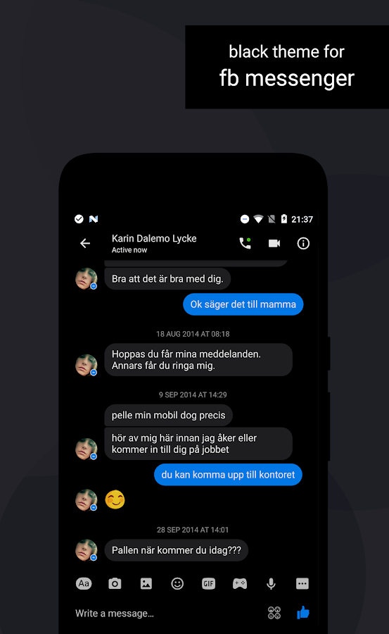 Swift Black Substratum Theme Screenshot 8