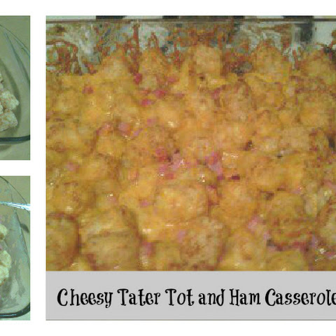 Cheesy Tater Tot and Ham Casserole