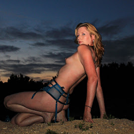 Monica by Kevin Hill - Nudes & Boudoir Artistic Nude ( clouds, nude, sunset, sundown, nudes )